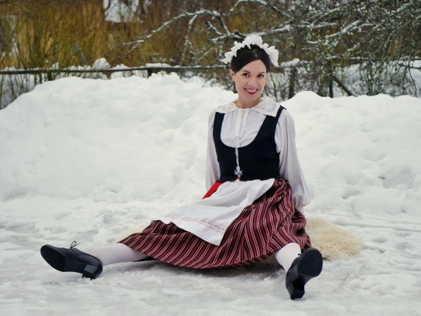 Elimäen kansallispuku Elimäki folkdräkt Elimäki national costume