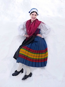 Lemlandin kansallispuku Lemland folkdräkt